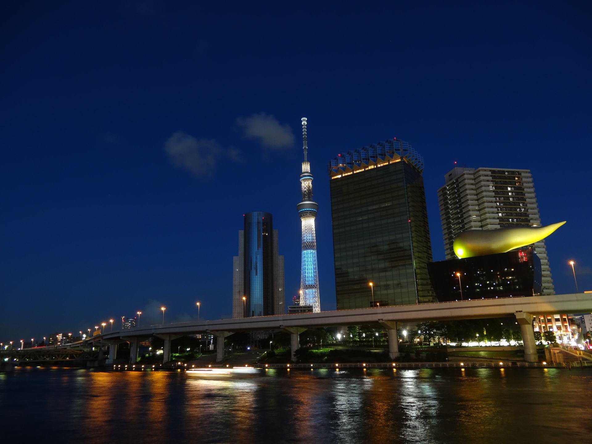 東京スカイツリー In Night 上総の写真 クリックすると壁紙サイズの写真 画像 になります