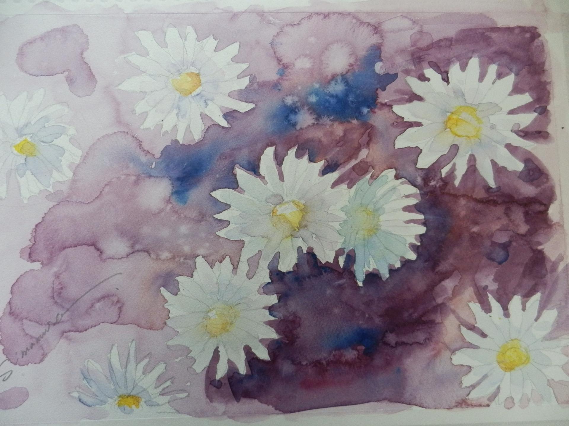2月第一回の水彩画教室作品