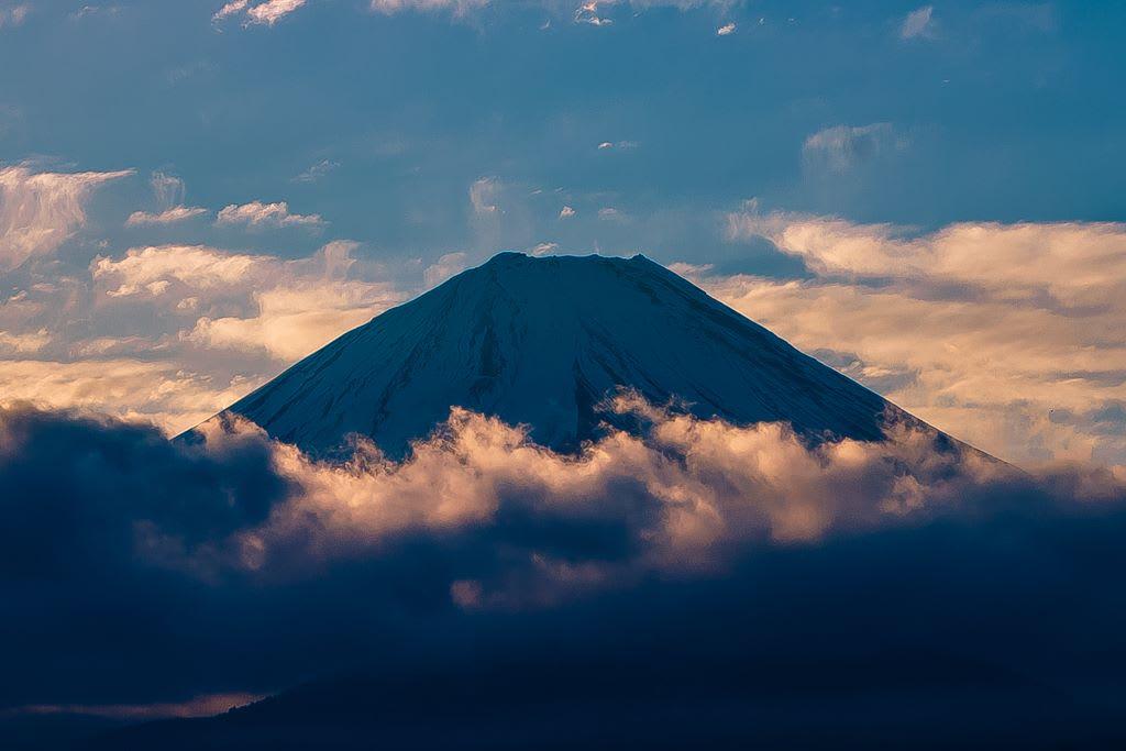 富士山(精進湖から)の写真