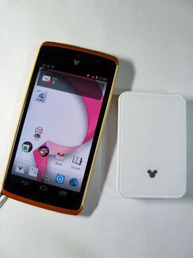 Disney Mobile on docomo N-03Eに標準添付のワイヤレススクリーンボックスN01