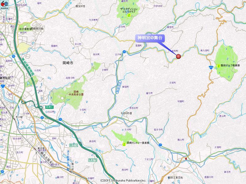 大川神明宮の地図