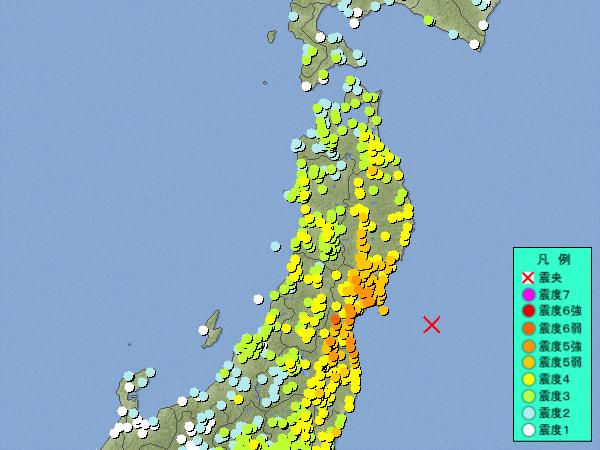 宮城県沖地震!? - 限りなく透明...