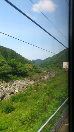 旅情を誘う高山本線の車窓