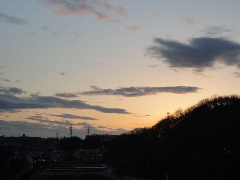 02月24日 根岸台の夕空