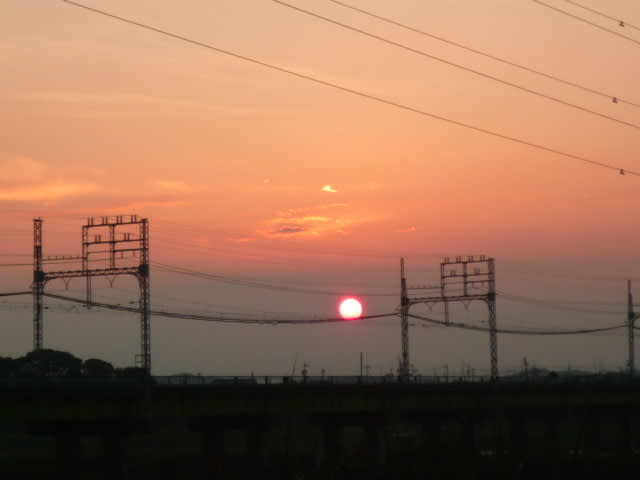 伊勢市宮川の夕陽見て来ました(^^)