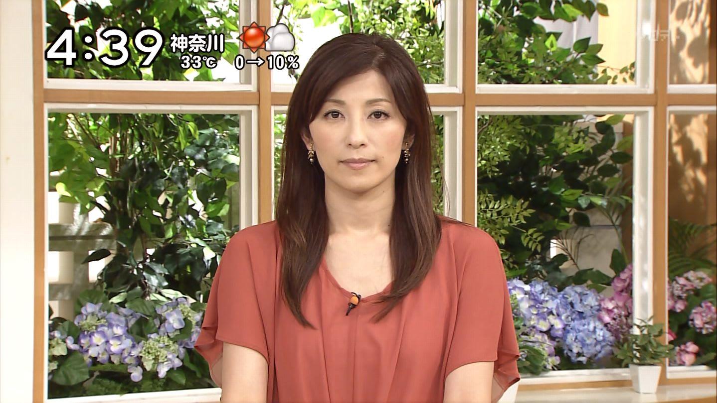 朝の情報番組に出演中の中田有紀