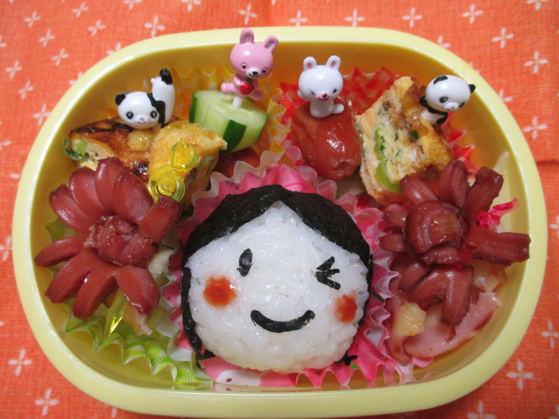 すべての折り紙 折り紙 ゴミ箱 作り方 : 幼稚園のお弁当「にっこり弁当 ...