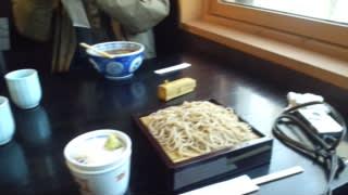 ハルニレテラスで蕎麦