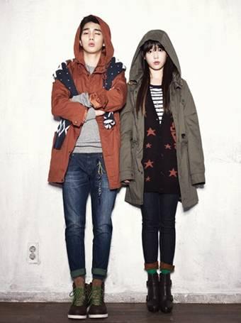 韓国旅行、秋、ファッション