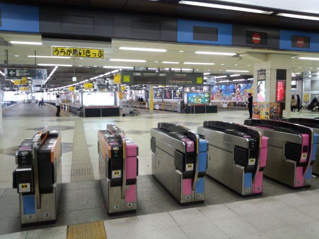 電車の来なくなった東横線渋谷駅