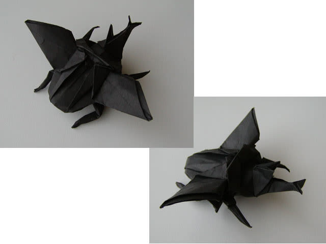 すべての折り紙 折り紙 折り方 カブトムシ : 飛ぶカブトムシ折り紙 - GUTS!な ...