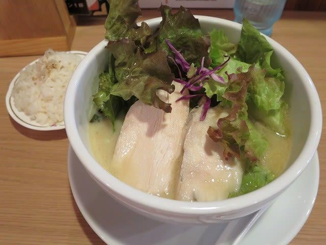 鶏白湯ラーメン+プチライス