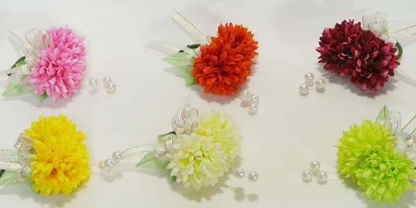 卒業 卒園式 コサージュ 生徒 園児用 ボールマム 造花