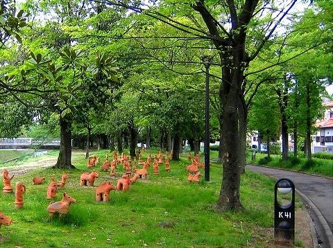自転車の 春日井 自転車 公園 : ふれあい緑道の道端に可愛い ...