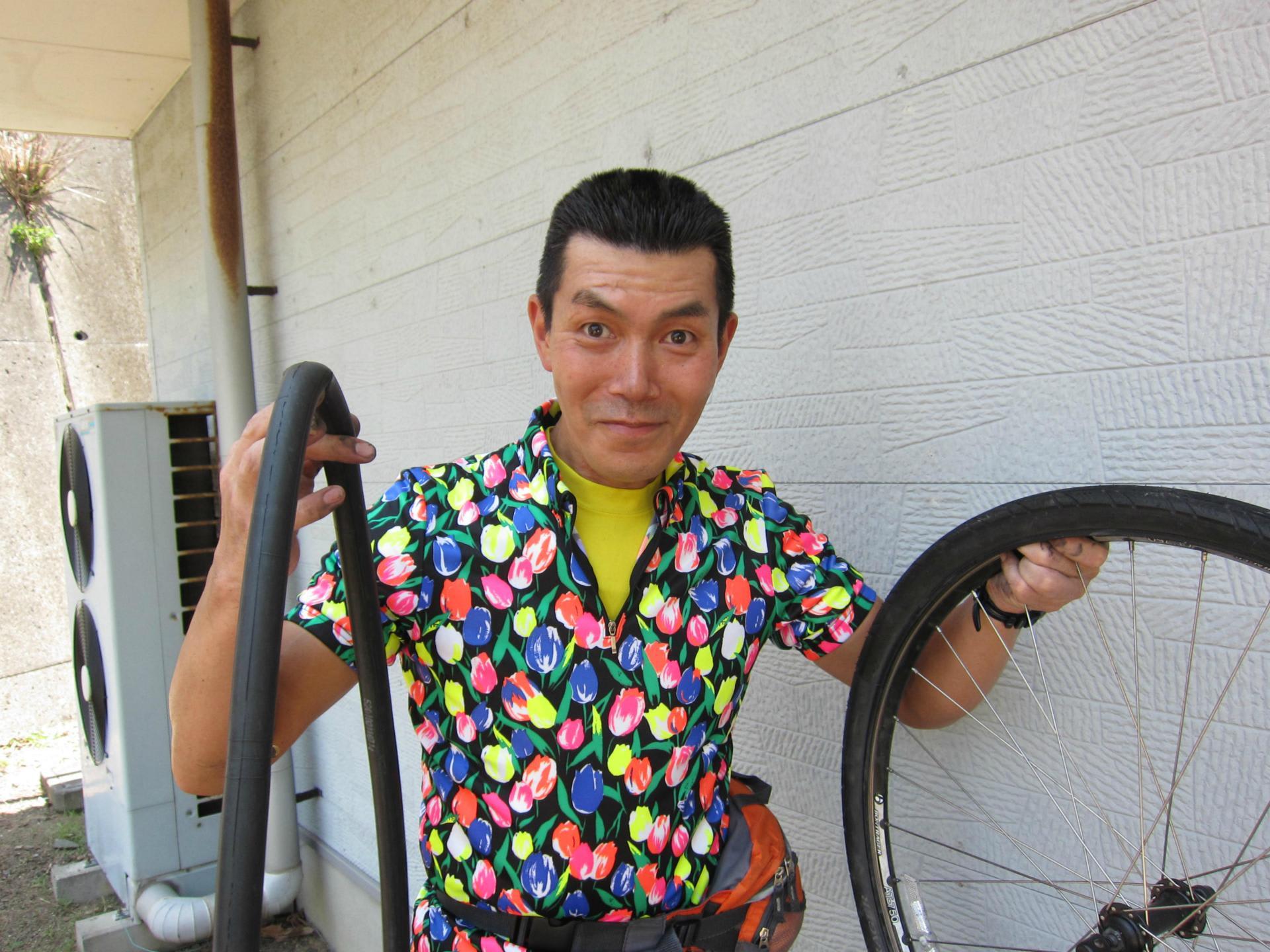 自転車の 自転車 ギアチェンジ 修理 : 毎日自転車通勤でパンク修理 ...