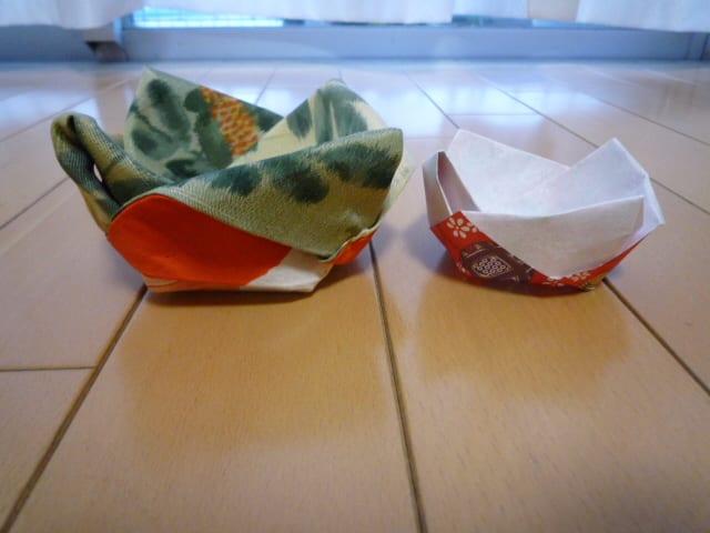 すべての折り紙 折り紙で作るコースター : 横から見ると、こんな感じです ...