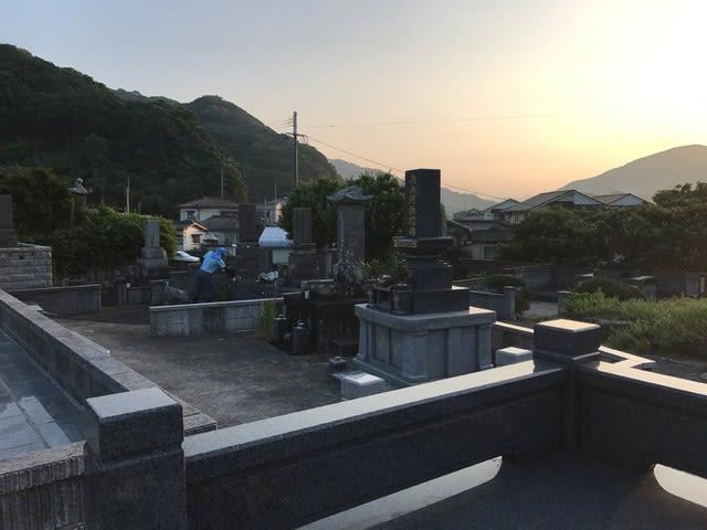 雪浦のお盆(1)「墓地の共同掃除」