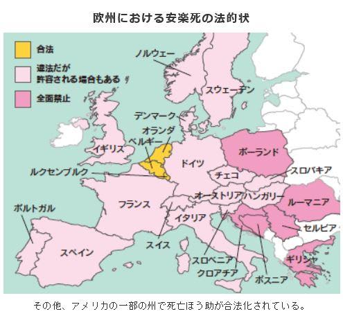欧州の安楽死合法化