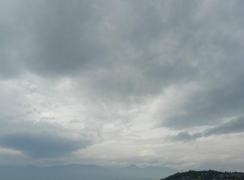 北アルプスの山並み