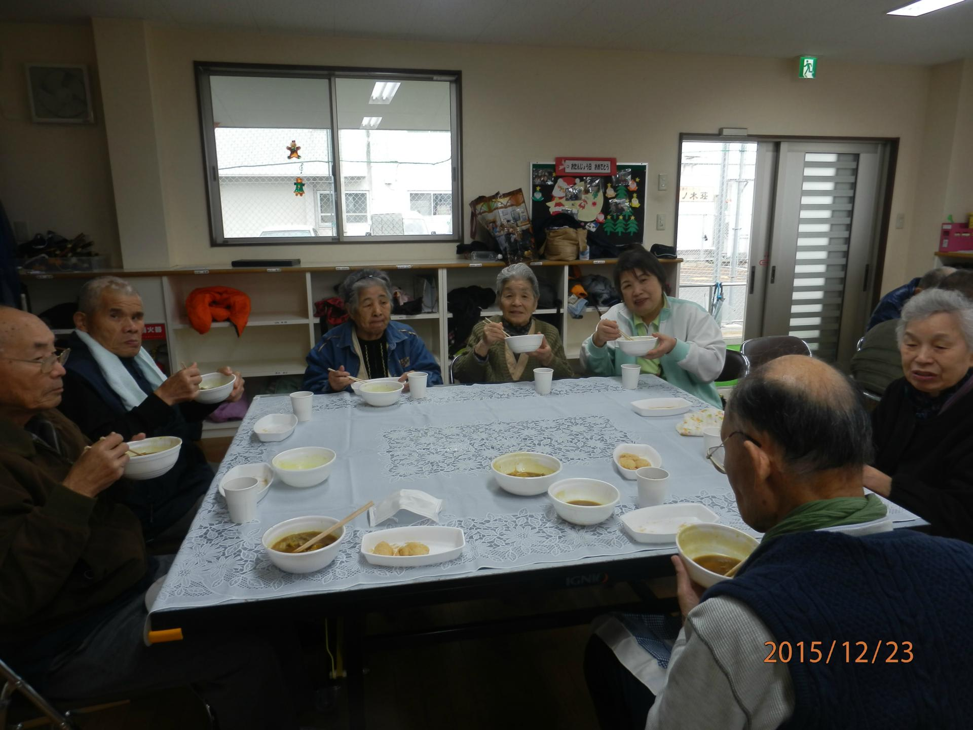 大谷学童保育クラブ主催餅つき大会におじゃましました