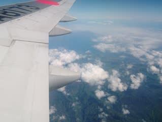 ハワイ5日目飛行機