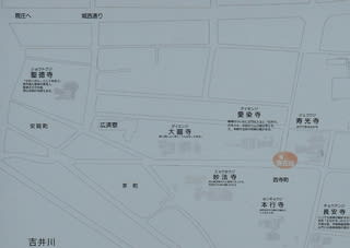 寺町界隈案内図(拡大)