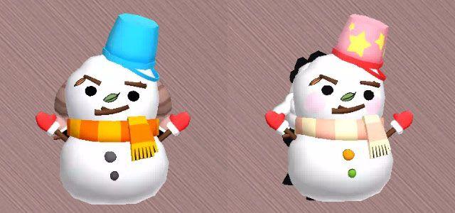 雪だるまを比較