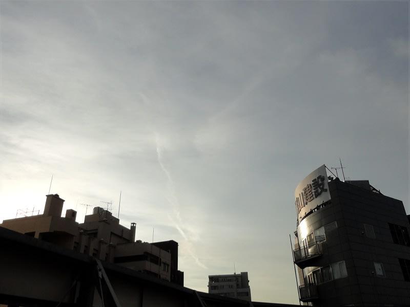 11月30日 地震後の雲