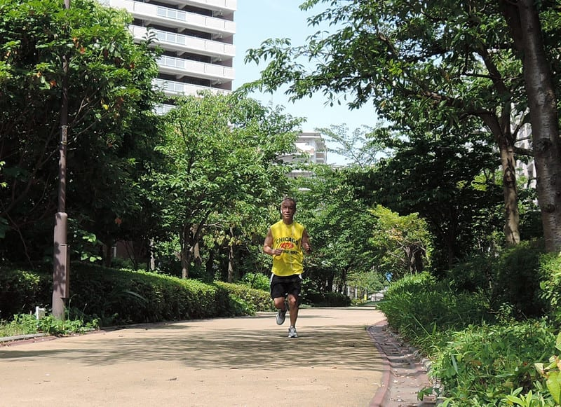Jackie_jogging_in_sazanami