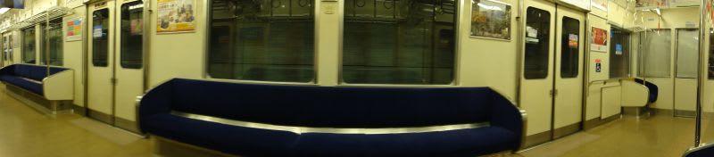京阪7200系車内スイングパノラマ