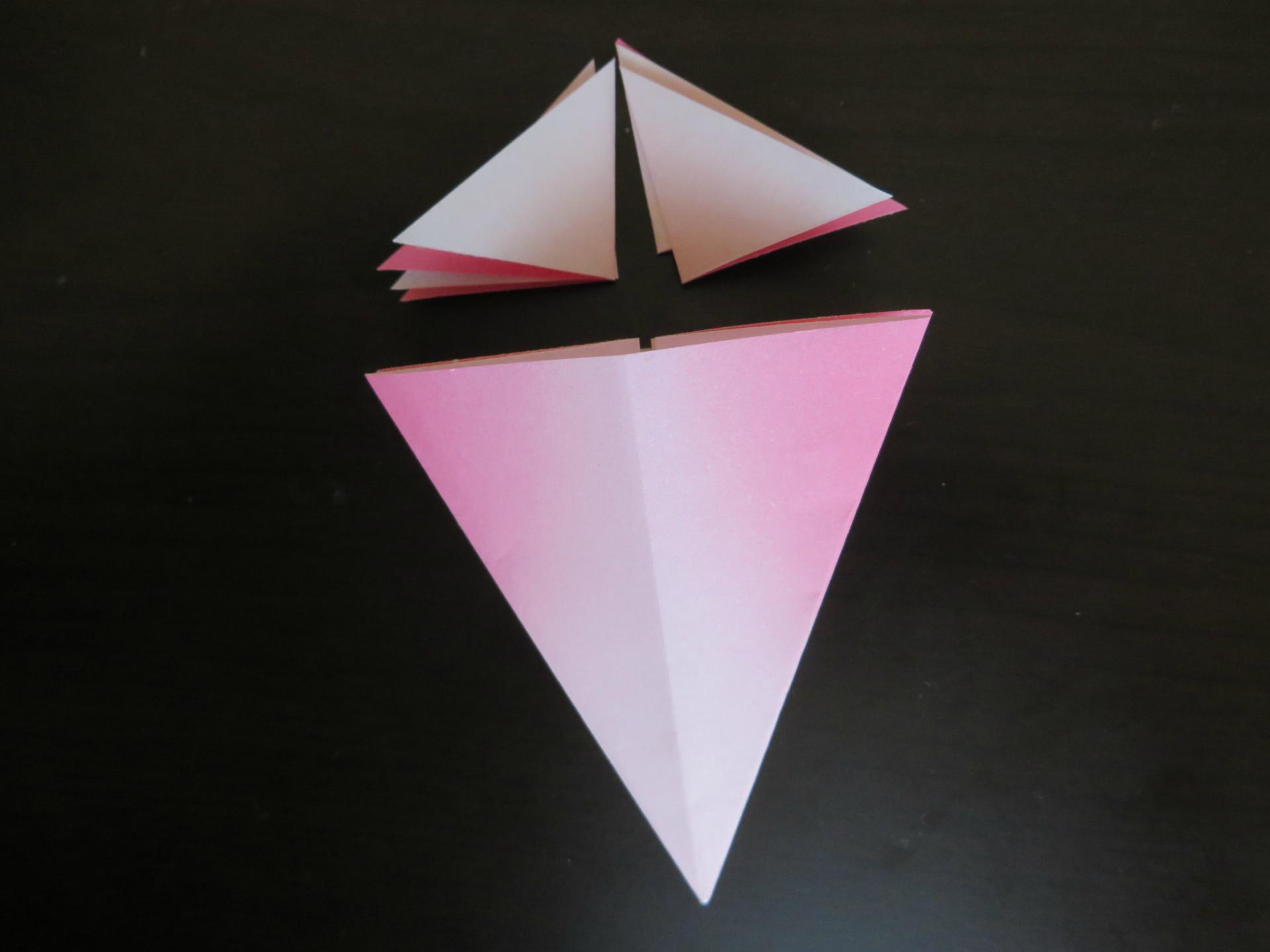 すべての折り紙 葉っぱ 折り紙 折り方 : 折り紙 コスモス - 空色のたね