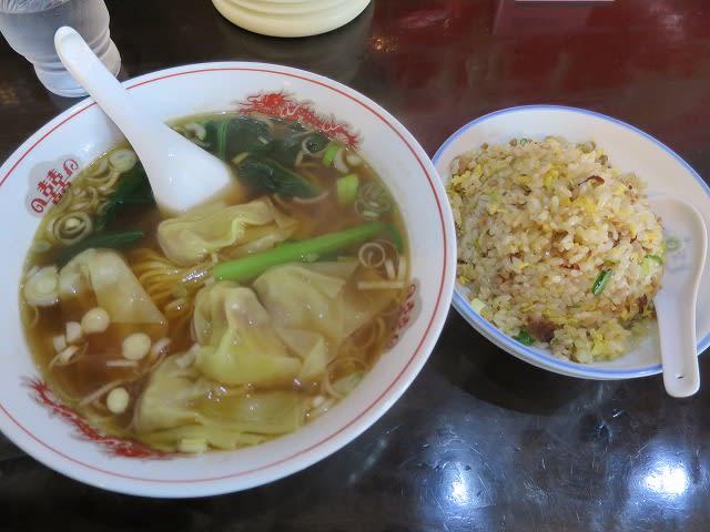 ラーメンセット(ワンタンメン+台湾炒飯)