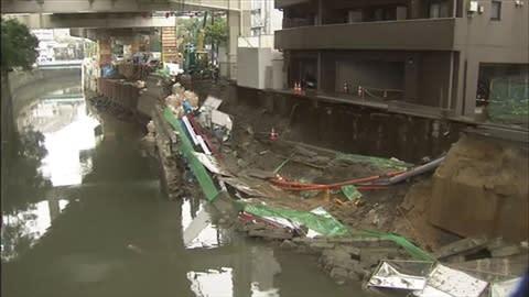 麻布十番で道路崩壊 - 東京老人 ...