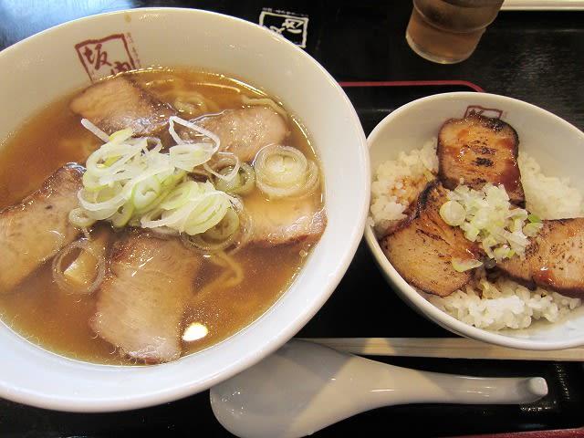 喜多方ラーメン+炙り焼豚ご飯