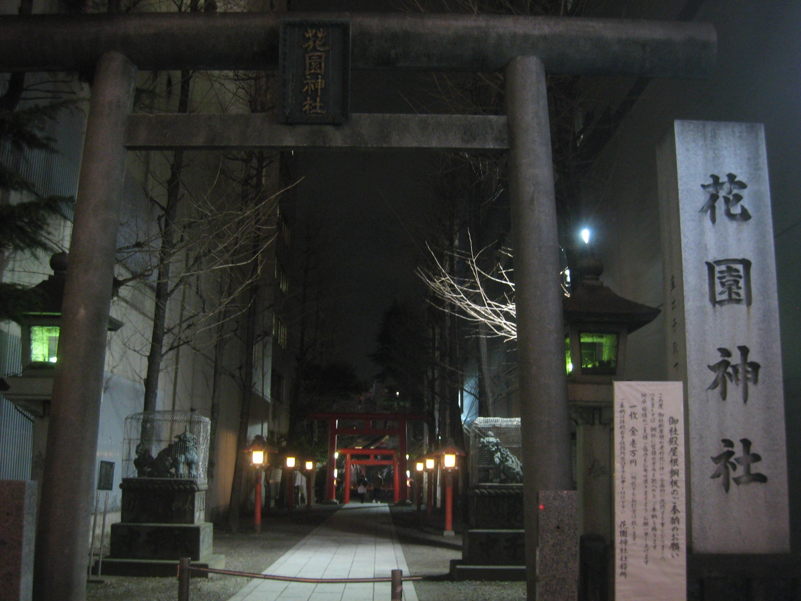 花園神社の桜 神秘的な雰囲気 - 読書日和