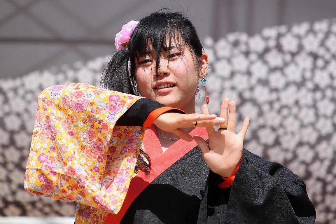 ●島根県立大学のよさこいサークル 橙蘭(島根県浜田市)のよさこい演舞の... 島根県立大学のよさ