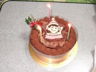 不二家のケーキ ペコちゃん