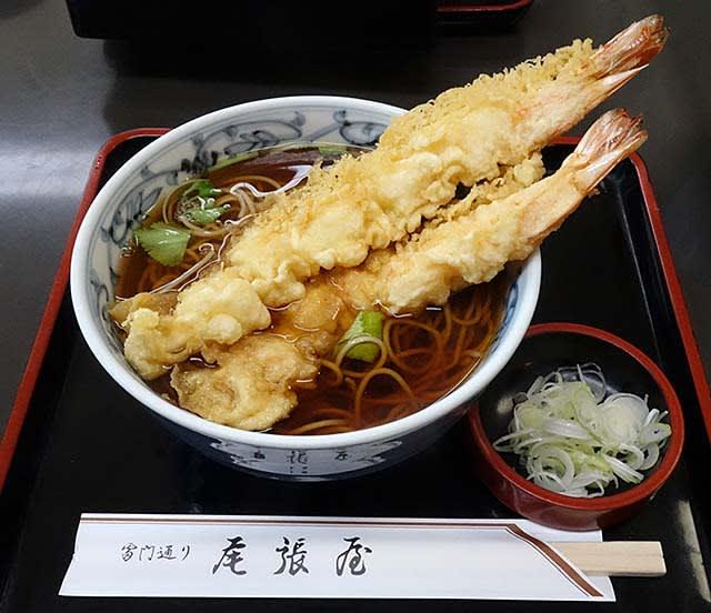 尾張屋(台東区浅草)の「天ぷらそば」「そばとろ」 - 蕎麦遺産