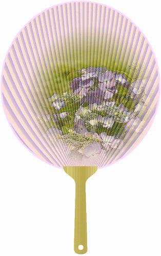 紫陽花の団扇