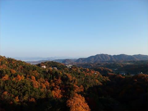 龍泉閣から見た北摂方面の紅葉