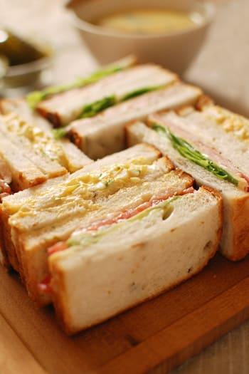 翌日にサンドイッチ