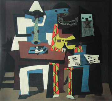 ニューヨーク近代美術館パブロ・ピカソ「三人の音楽師」