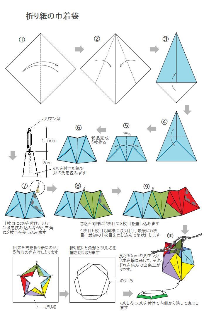 すべての折り紙 折り紙で作る袋 : 手作りおもちゃの冊子 [たの ...