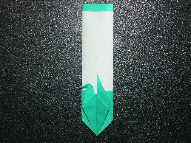 折り紙 ~鶴つきしおり&ポチ ... : 折り紙 箸袋 鶴 : すべての折り紙