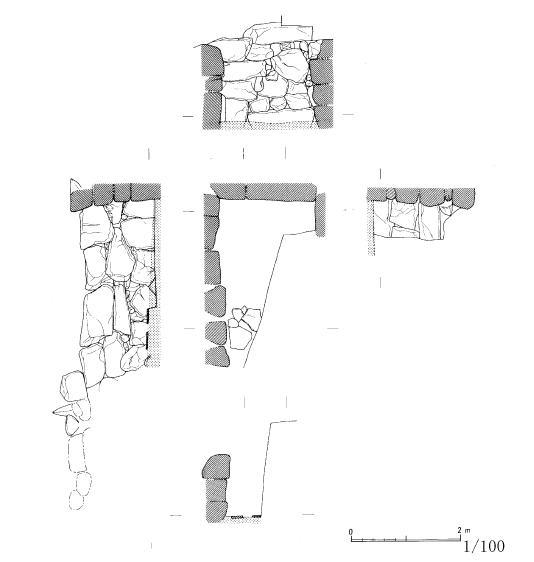 友田東山古墳石室図