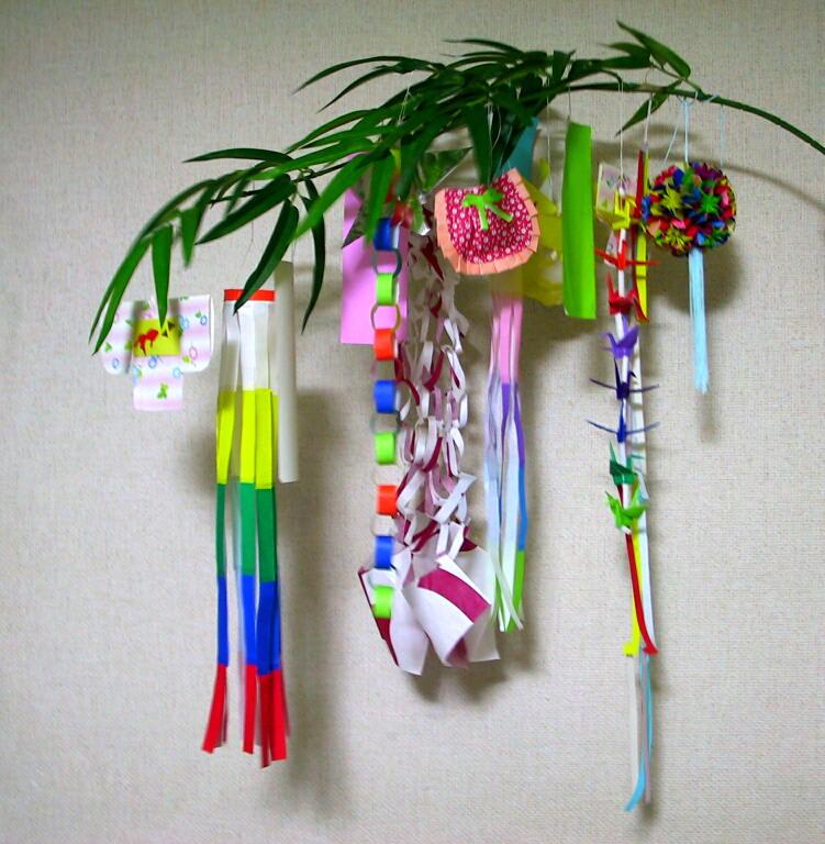 七夕飾りの画像 : 笹飾り 作り方 : すべての講義
