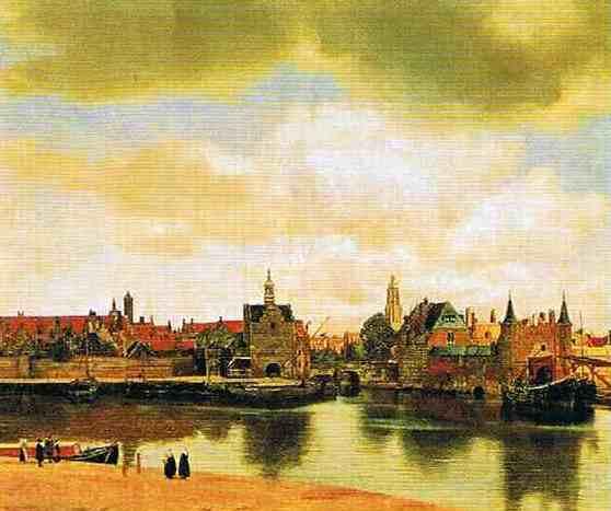 フェルメール:  オランダ「デルフトの町の眺望」