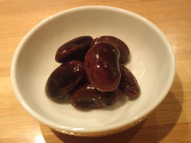 【紫花豆の新豆】