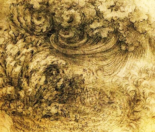 大洪水の素描【わたしの里の美術館・作品】ダ・ヴィンチ
