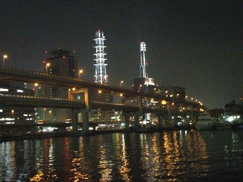 阪神高速湾岸線の夜景